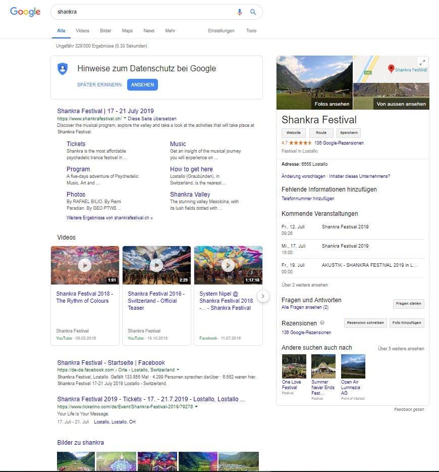 Shankra Google Suche