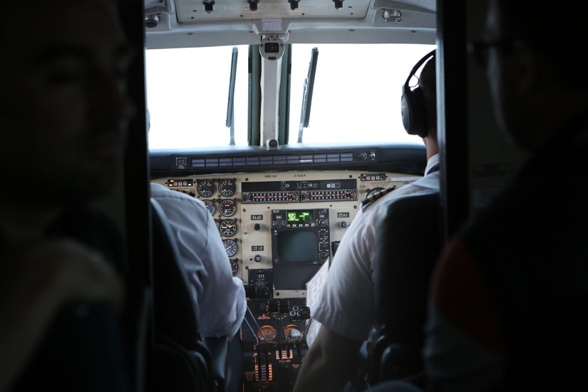 Ab ins Cockpit